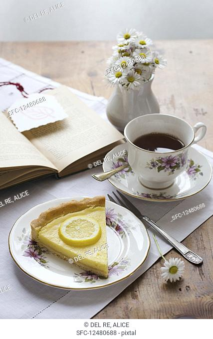 A piece of lemon tart for tea