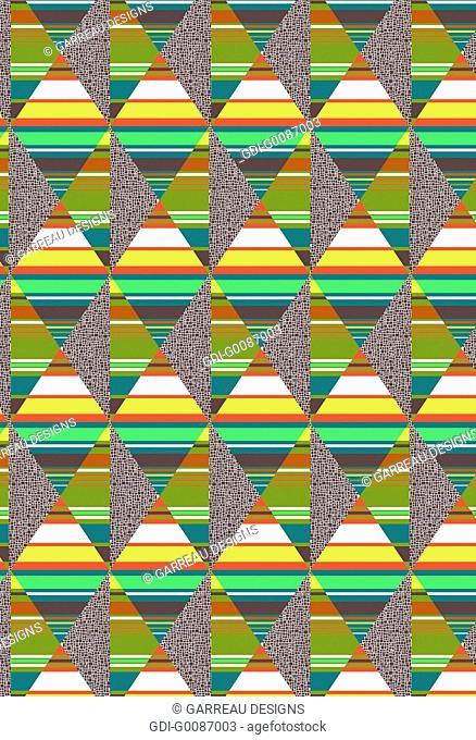 Stripes and diamonds design
