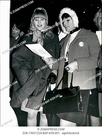 Dec. 20, 1965 - 20-12-65 Fans riot at pop stars?¢'Ǩ'Ñ¢ carol concert ?¢'Ǩ'Äú Thousands of screaming teenagers stormed barriers in Trafalgar Square last night...