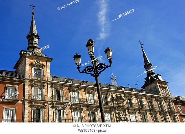 Plaza Mayor, Main Square, Comunidad de Madrid, Spain, Europe