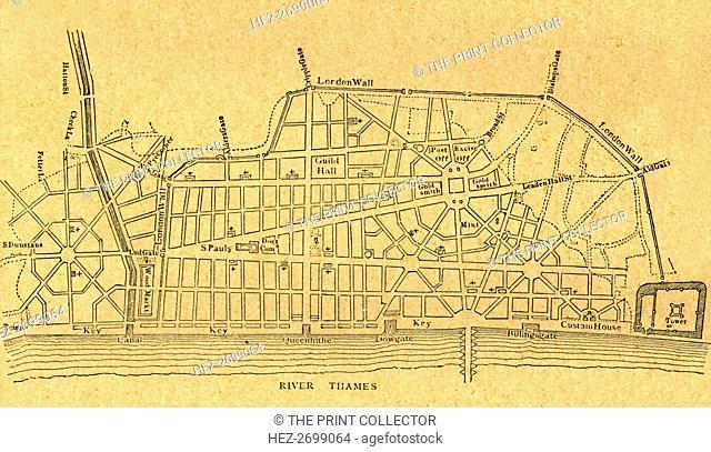 'Wren's Plan for Rebuilding London', (1897). Creator: Unknown