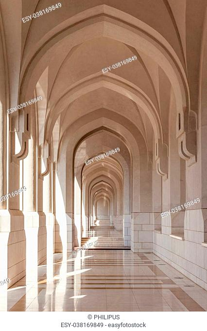 Archway in the old town of Muscat. Sultanate of Oman, Middle East