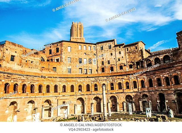 Market of Trajan, Trajan's Forum, Rome, Italy, Europe