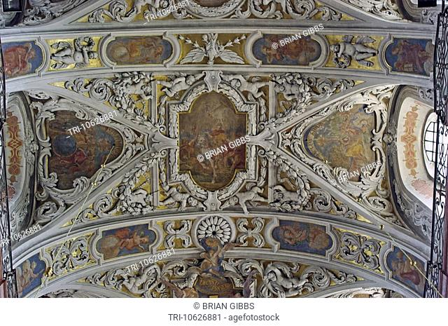 Basilica of the Holy Cross and the Nativity of the Virgin Mary Ceiling Pauline Monks Monastery of Jasna Gora Czstochowa Poland