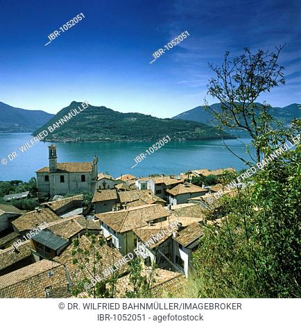 San Marasino, Lago d'Iseo, Lombardy, Italy, Europe