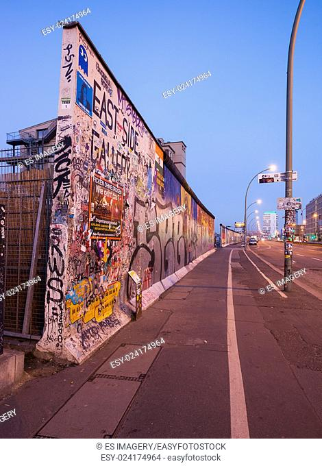 Pieces of the Berlin Wall at the East Side Gallery