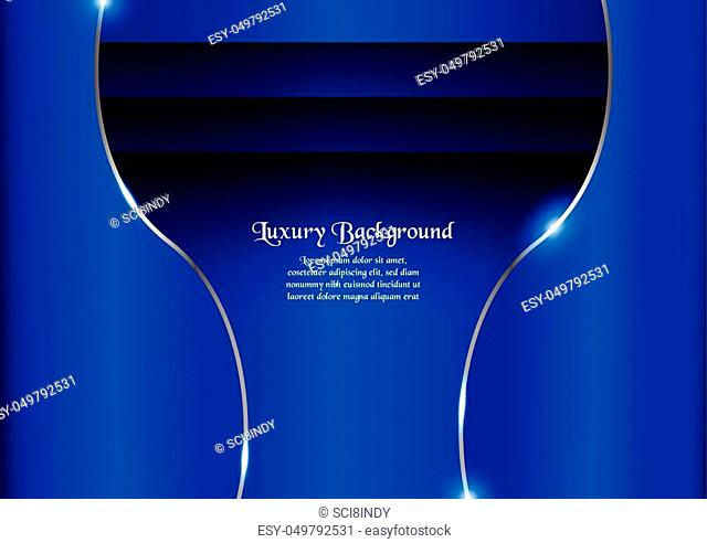 Abstract blue background in premium concept with copy space. Template design for cover, business presentation, web banner and packaging