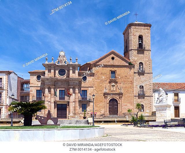Palacio del Intendente e Iglesia de la Inmaculada Concepción. La Carolina. Jaén. Andalusia. Spain