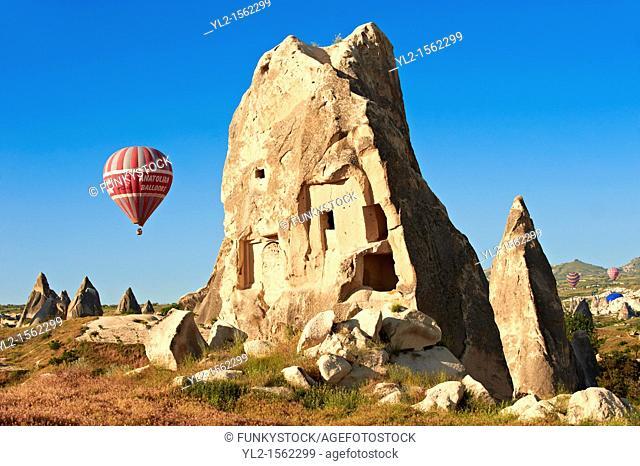 Hot Air Baloons over the Fairy Chimneys near Göreme  Goreme  , Cappadocia Turkey