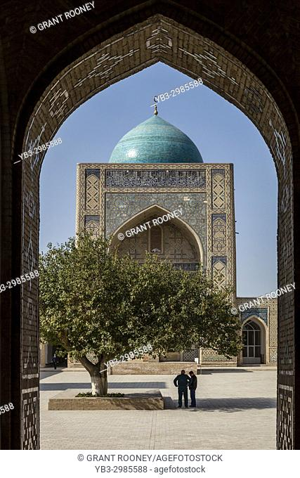 The Inner Courtyard Of The Kalyan Mosque, Bukhara, Uzbekistan