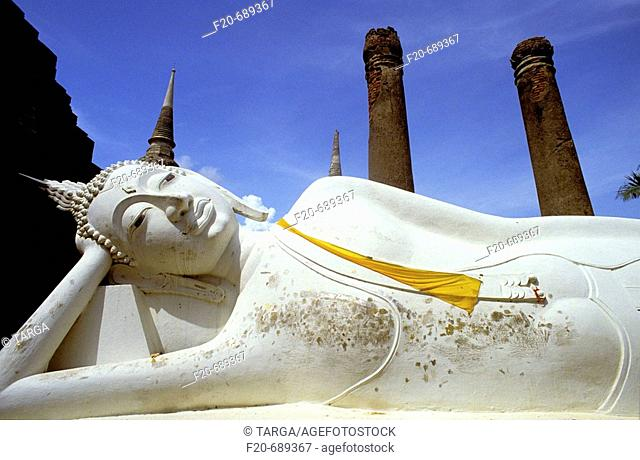 Reclining Buddha, Sukhothai. Thailand
