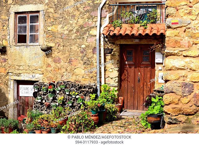 Door of a house in Penha Garcia, Castelo Branco, Portugal