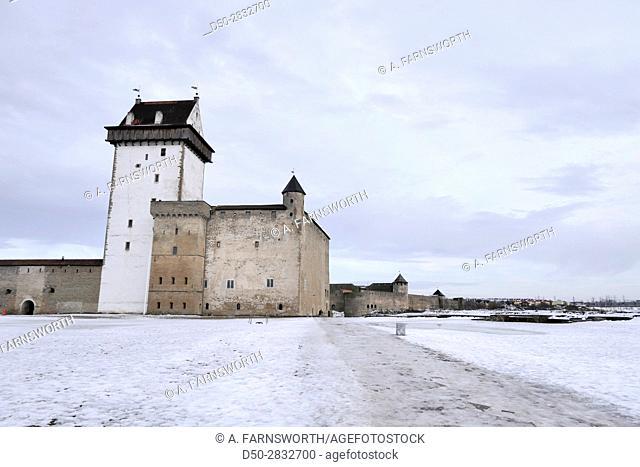NARVA, ESTONIA Bordertown with Russia
