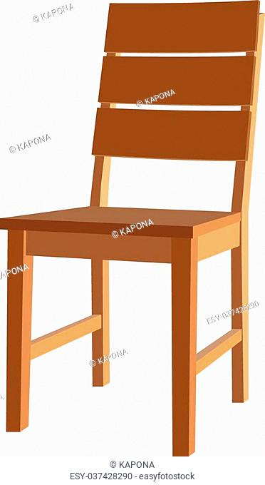 Icon chair with four legs. Vector illustration