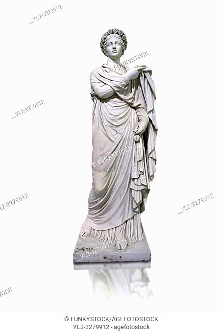 2nd century AD Roman marble sculpture known as â. . The Small Womenâ. . the so called Flora, copied from a 4th century BC Hellanistic Greek original, inv 6404