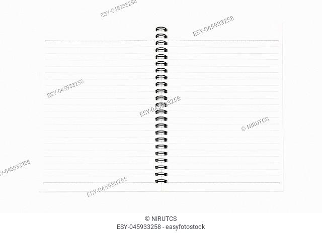 Blank realistic spiral notepad, notebook isolated on white background with clipping paths