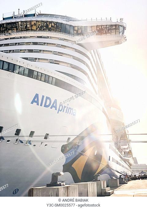 AIDA Prima cruise liner close up