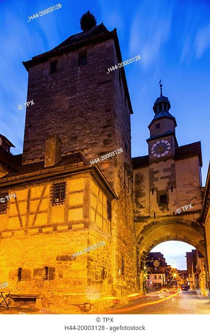 Germany, Bavaria, Romantic Road, Rothenburg-ob-der-Tauber, St. Marks Tower