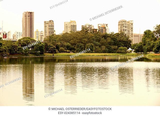 The Ibirapuera Park (Parque do Ibirapuera) in Sao Paulo, Brazil, south america