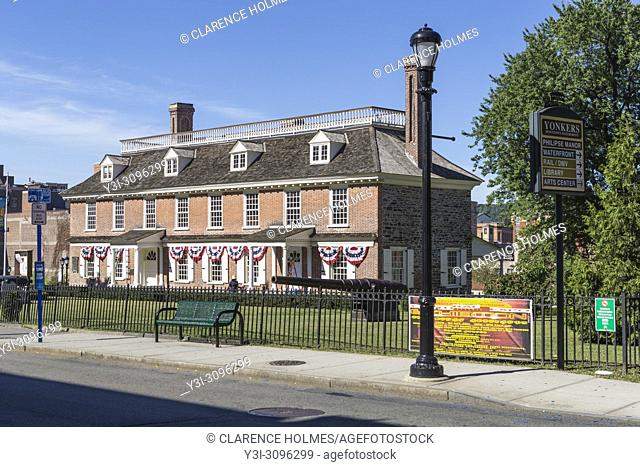 The historic colonial era Philipse Manor Hall in downtown Yonkers, New York