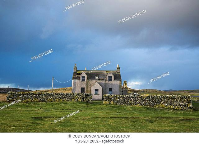Derelict abandoned house, Berneray, Outer Hebrides, Scotland