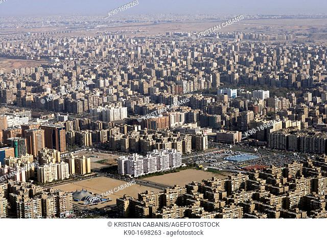 Aerial view of Cairo, Egypt, North Africa