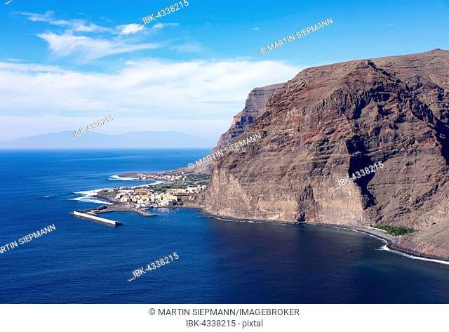 Harbor in Vueltas, Valle Gran Rey, La Gomera, Canary Islands, Spain