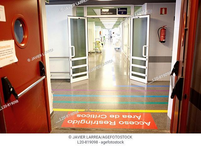 Emergency area. Hospital Universitario de Gran Canaria Doctor Negrin, Las Palmas de Gran Canaria. Canary Islands, Spain