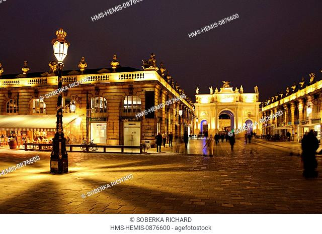 France, Meurthe et Moselle, Nancy, Place Stanislas (former Place Royale) built by Stanislas Leszczynski, King of Poland and last Duke of Lorraine in the 18th...