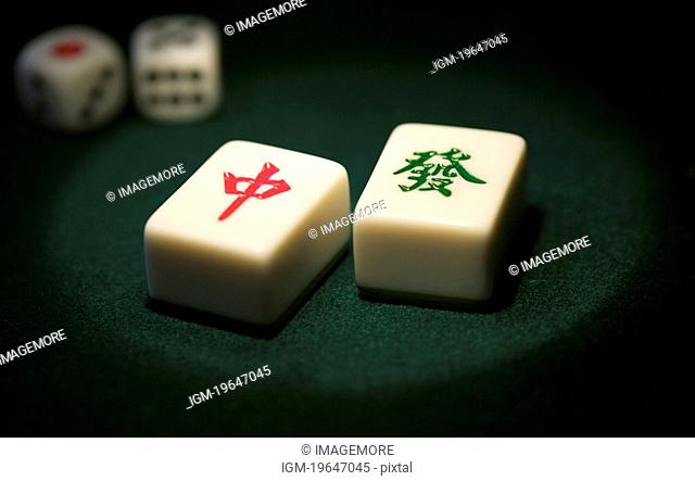 Mah-jongg tiles from China