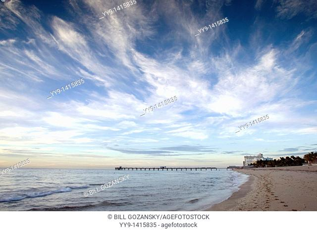 Early morning light on beach - Lauderdale-by-the-Sea, Florida