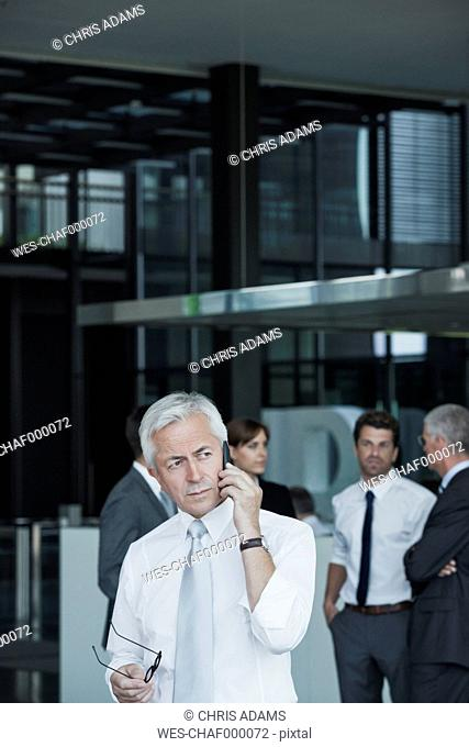 Senior businessman on cell phone