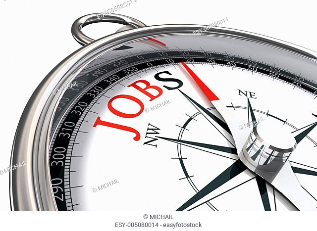 jobs direction indicated by compass
