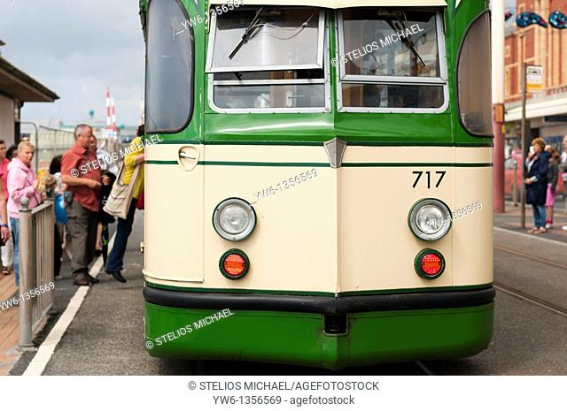 Tram in Blackpool,England