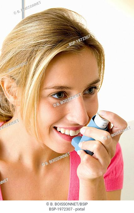 ASTHMA TREATMENT, WOMAN Model