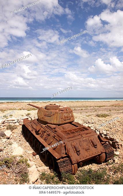 Battle tanks, Soqotra Island, Hadramawt, Yemen