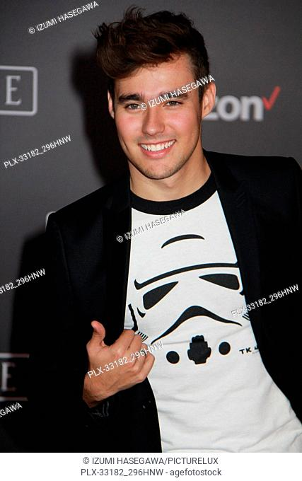 """Jorge Blanco 12/10/2016 The World Premiere of """"""""Rogue One: A Star Wars Story"""""""" held at the Pantages Theatre in Los Angeles"""