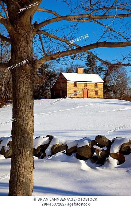 Minuteman Captain William Smith's Home on the Battle Road between Lexington and Concord, Massachusetts USA