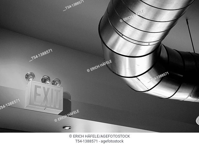 Emergency exit detail Stock Photos and Images | age fotostock