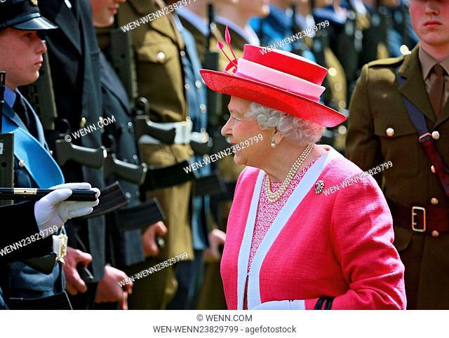 Queen Elizabeth II inspects a Guard of Honour at Berkhamsted School, Britain Featuring: Queen Elizabeth II Where: London