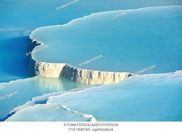 Photo of Pamukkale Travetine Terrace, Turkey  Images of the white Calcium carbonate rock formations  Buy as stock photos or as photo art prints  8