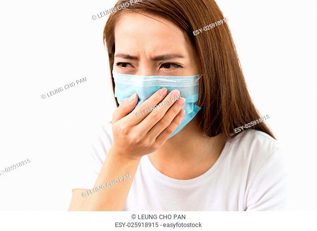Young sick woman got flu