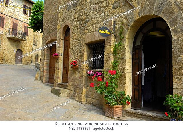 Monticchiello, Pienza, Val d'Orcia, Orcia Valley, UNESCO world heritage site, Siena Province, Tuscany, Italy, Europe