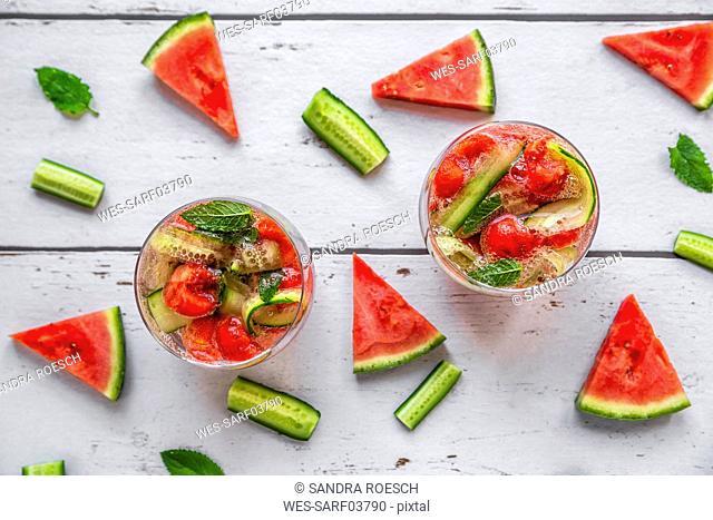 Melon cucumber water, detox