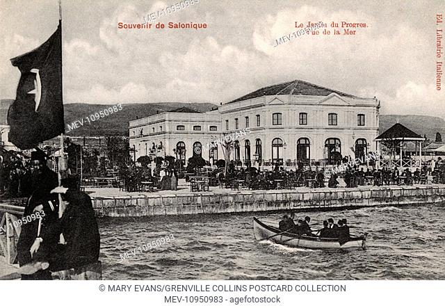 Thessaloniki, Greece - The Garden of Progress with sea view