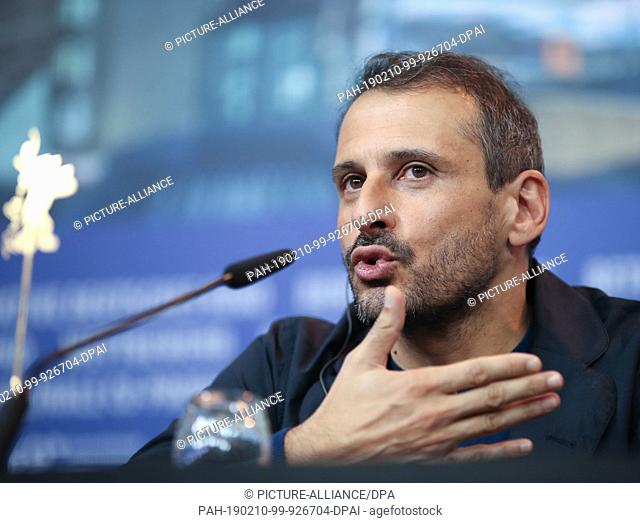 """10 February 2019, Berlin: 69th Berlinale: Safy Nebbou, director, at the press conference of the film """"""""Celle Que Vous Croyez"""""""" Who do You think I am"""""""""""