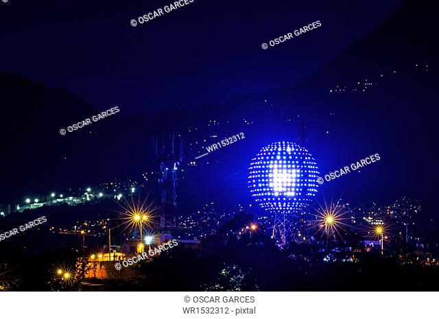 Lightings in Medellin River, Medellin, Antioquia, Colombia