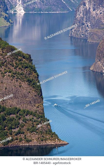 View of the Aurlandsfjord, Norway, Scandinavia, Europe