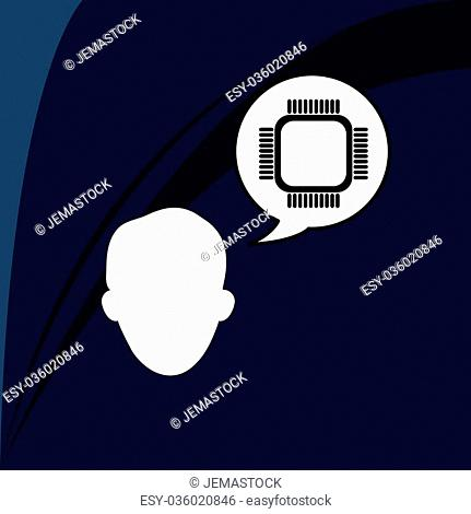 Communication concept with icon design, vector illustration 10 eps graphic