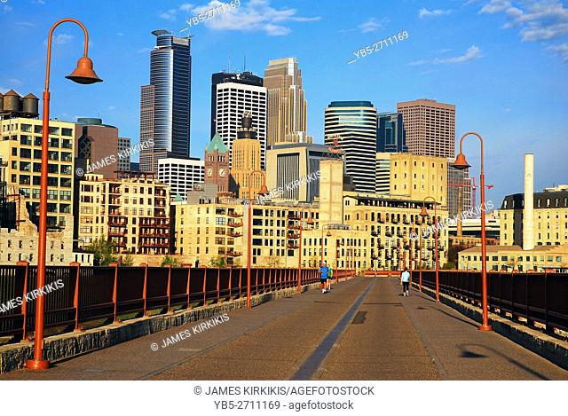 The Minneapolis Skyline as Seen From the Stone Arch Bridge